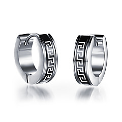 Earring Stud Earrings Jewelry Men Party / Daily / Casual Platinum Plated 2pcs Silver