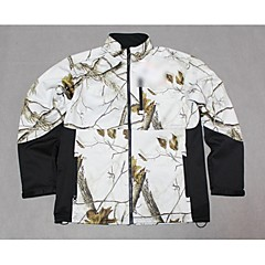 Men Camouflage Hunting Jacket Coat Snow Camo Shell Fleece Jacket Warm Overcoat For Outdoor