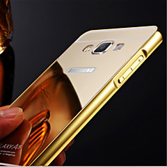 espelho banhado a armação de metal caso de acrílico telefone tampa transparente para Samsung Galaxy a3 a5 a7 a8 (2016)