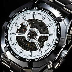 Automatic Mechanical Men Watch Tachymeter Dodecagon Case Hollow Dial Stainless Steel Wristwatch
