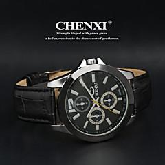 CHENXI® Férfi Karóra Kvarc Japán kvarc Bőr Zenekar Fekete Fehér Fekete