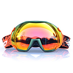 BASTO Green Frame  Orange Sensor Skiing Snow Goggles