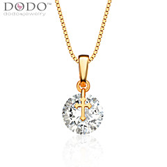 Cross Big Simulated White Diamond Pendant New Trendy 18K Gold Plated AAACubic Zirconia Party Gift for women P30128