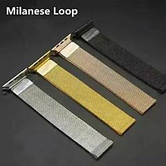 Milanesa lazo para el reloj de la manzana pulsera de la venda de reloj del reemplazo del acero inoxidable