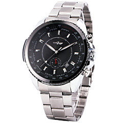 WINNER® Men's Automatic Mechanical Watch Stainless Steel Strap Date Calendar Sub-dial Supersize Cool Watch Unique Watch