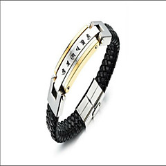 Leather Bracelet Bangles Party / Daily / Casual 1pc