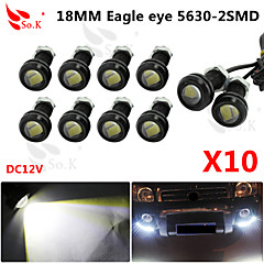 10 X 9W LED Eagle Eye Light Car Fog DRL Daytime Reverse Backup Parking Signal black 12V