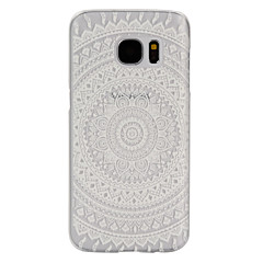 For Samsung Galaxy S7 Edge Syrematteret Transparent Etui Bagcover Etui Mandala-mønster PC for SamsungS7 Active S7 plus S7 edge plus S7