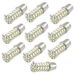 10 Pcs Car 1156 BA15S 1206 68-SMD LED Tail Brake Backup White Light Bulbs
