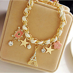 Lucky Doll Women's All Matching Geometric Braided/Cord Charm Star Bracelet