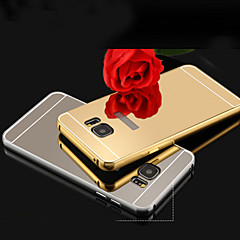 New Plating Mirror Back with Metal Frame Phone Case for Samsung Galaxy S7/S7 edge/S6/S6 edge/S6 edge+(Assorted Colors)