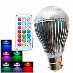 9W B22 Lampadine globo LED A60(A19) 3 LED ad alta intesità 500 lm Colori primari Intensità regolabile / Controllo a distanza / Decorativo