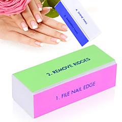 Nail Art Buffer File Block Pedicure Manicure Buffing Sanding Polish White Makeup Beauty Tools
