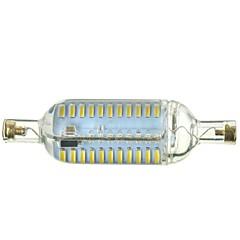 7W R7S Lâmpadas Espiga Encaixe Embutido 76 SMD 4014 600-700 lm Branco Quente / Branco Frio Regulável / Decorativa AC 220-240 V 1 pç