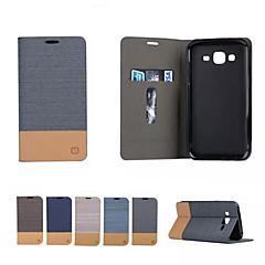 Na Samsung Galaxy Etui Etui Pokrowce Etui na karty Z podpórką Flip Magnetyczne Futerał Kılıf Jeden kolor Miękkie Skóra PU na SamsungA5