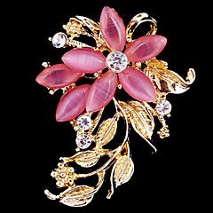 düğün dekorasyon eşarp kadınların kristal opal çiçek broş, güzel takı