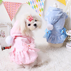 Perros Abrigos / Saco y Capucha Azul / Rosado Invierno Un Color Moda / Mantiene abrigado