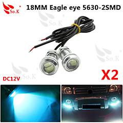 2 x ice 12v 9w johti DRL Eagle Eye kevyt auto auto sumu päiväsaikaan käänteinen signaali