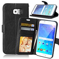skórzany portfel z klapką pokrywy + gniazdo gotówki + ramka na zdjęcia etui na telefony Samsung Galaxy s7 / s7 krawędzi / EDGE s6 krawędzi