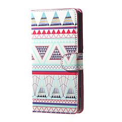 stammeledere trekanter mønster pung læder flip stå tilfældet med kortplads til microsoft Lumia 650