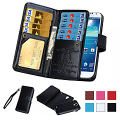 For Samsung Galaxy Note Wallet / Card Holder / Flip Case Full Body Case Solid Color PU Leather Samsung Note 5 / Note 4 / Note 3