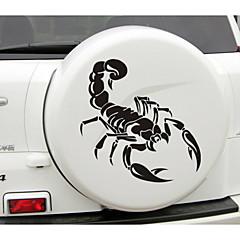 58 * 59 centímetros engraçado o escorpião totem etiqueta do carro janela do carro parede decalque do carro styling (1pcs)