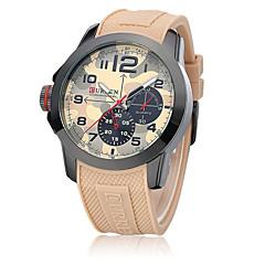 Herren Armbanduhr Quartz Wasserdicht Caucho Band Schwarz / Braun Marke-
