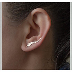 European Leaf  Alloy Earring Ear Cuffs Daily / Casual 1 pair NEW Fashion Ear Sweep Wrap Silver Gold Ear Climber Leafs Ear Clip Cuffs Earrings