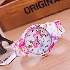 Women's European Style Fashion Flower Silicone Watch Cool Watches Unique Watches
