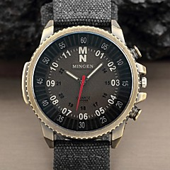 Hot Sale Casual Military Pilot Aviator Army Style Numbers large Dial Fabric Band Analog Quartz Men's Fashion Sport Watch Wrist Watch Cool Watch