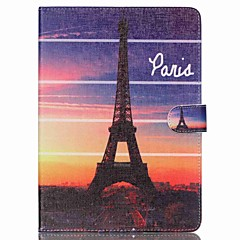 Eiffel Tower Folio Leather Stand Cover Case With Stand for iPad Air