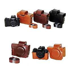 Dengpin PU Leather Camera Case Bag Cover with Shoulder Strap for Canon PowerShot G5 X (Assorted Colors)