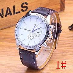 Men's Fashion Watch Classic Blue Pointer Fashion Business PU Band Quartz Watch Cool Watch Unique Watch