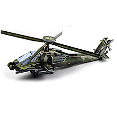 Jigsaw Puzzles 3D Puzzles Building Blocks DIY Toys Helicopter Paper Green Model & Building Toy