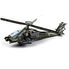 Rompecabezas Puzzles 3D Bloques de construcción Juguetes de bricolaje Helicóptero Papel Verde Modelismo y Construcción