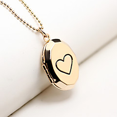 DIY Box Can Put Photos Are Heart-Shaped Pendant Necklace