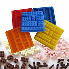 Lego Brick Style Square Sharped Silicone Ice Mold Building Blocks Ice Tray DIY(Random Color)