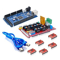 Mega 2560 R3 + 1pcs RAMPS 1.4 Controller + 5pcs A4988 Stepper Driver Module for 3D Printer kit Reprap MendelPrusa
