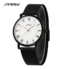 SINOBI Relojes Mujer Best Watches Top Brand For Mens Stainless Steel Wrist Watch Males Slim Casual Quartz-watch Clock Cool Watch Unique Watch