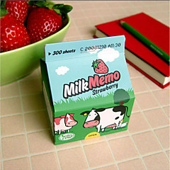 1PC Lovely Milk Cartons Label Paper / Note Paper(Style random)