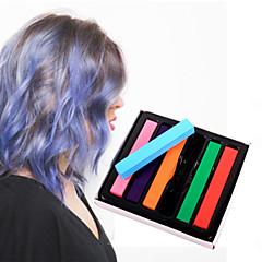 6 lápices de colores de color tiza temporal para el cabello pasteles tintes capilares no tóxicos se adhieren herramientas de estilo de