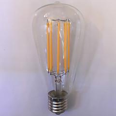 1 Stück kwb E26/E27 10W 8 COB 1000 lm Warmes Weiß / Bernstein ST64 edison Vintage LED Glühlampen AC 85-265 V