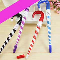 1PC Christmas gifts creative cartoon Christmas ball pen pen umbrella Lovely ball pen(Random color)