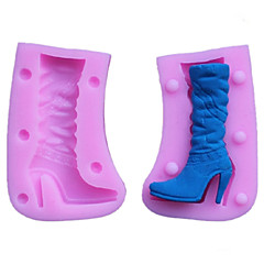 Boots Fondant Cake Chocolate Resin Clay Candy Silicone Mold,L7.3m*W5cm*H2.8cm