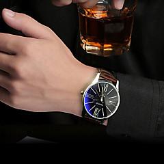 Masculino Relógio de Pulso Quartzo Impermeável Couro Banda Preta Branco Marrom marca