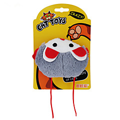 고양이 장난감 플러시 장난감 찍찍 소리를 내다 플라스틱 그레이 / 오렌지