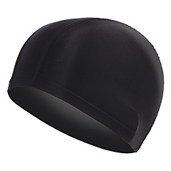 Comfortable spandex Mens Black adult swim cap
