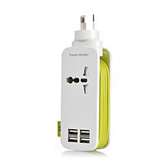 au plug 4port usb laturi socket lightningproof anti ylikuormitus 5v 4.2a köydessä: 1,2 500w (eri värejä)