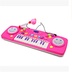 25 Hhealth Multifunctional Learning Keyboard Preschool Music Enlightenment With Microphone Ramdon Color
