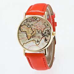 Masculino Mulheres Unissex Relógio de Moda Quartzo PU Banda Vintage Preta Azul Vermelho Laranja Marrom Verde Rosa Roxa Amarelo Cáqui marca